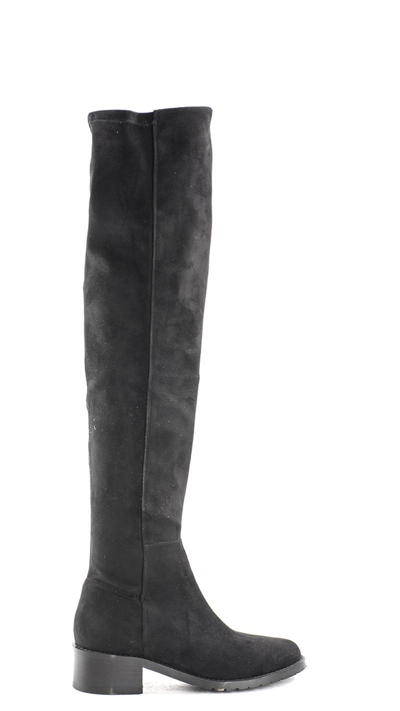 MOON Schuhe 14020100 002 Stoff ARANCIO schwarz Frau Stiefel