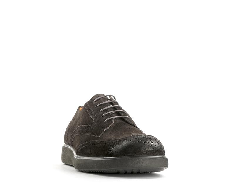 Scarpe Stonefly Uomo Marrone Brogue, Pelle scamosciata 107686-410s Scarpe classiche da uomo