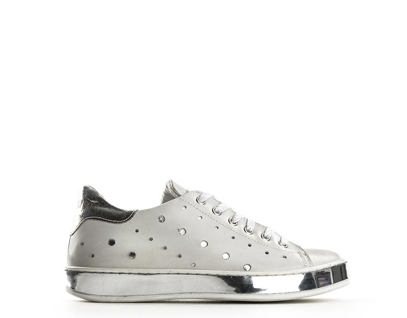Scarpe BIANCOANTICO Donna Sneakers Trendy BIANCO ARGENTO Pelle naturale  1302CRUSTAR 282f2123ffa