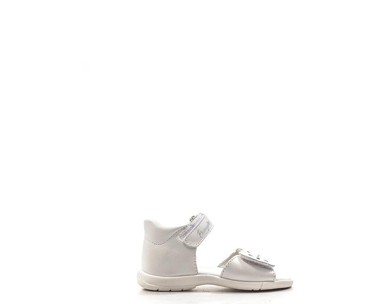 Scarpe Primigi Bambini Sandali Bassi Bianco Pelle Naturale 1402022s