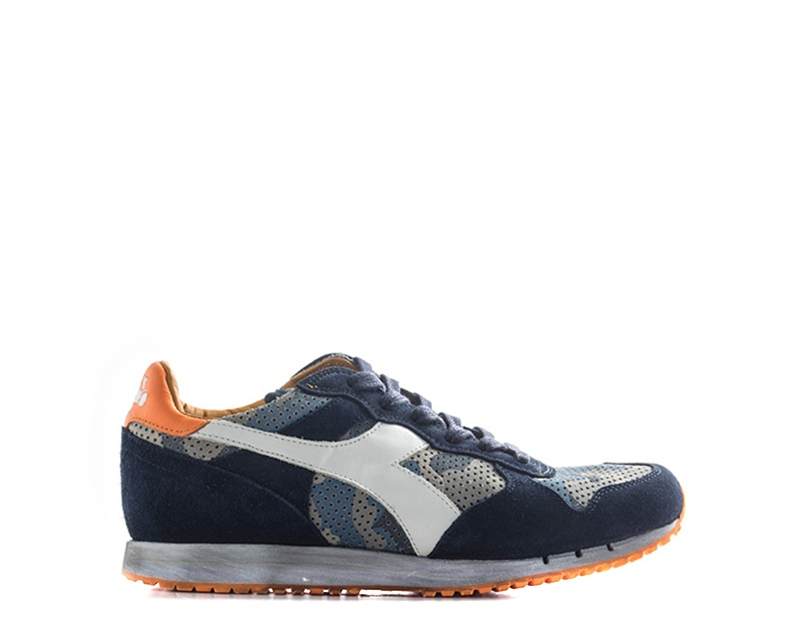 Dettagli su Scarpe DIADORA HERITAGE Uomo Sneakers trendy BLUARANCIO Pelle naturale,Tessuto