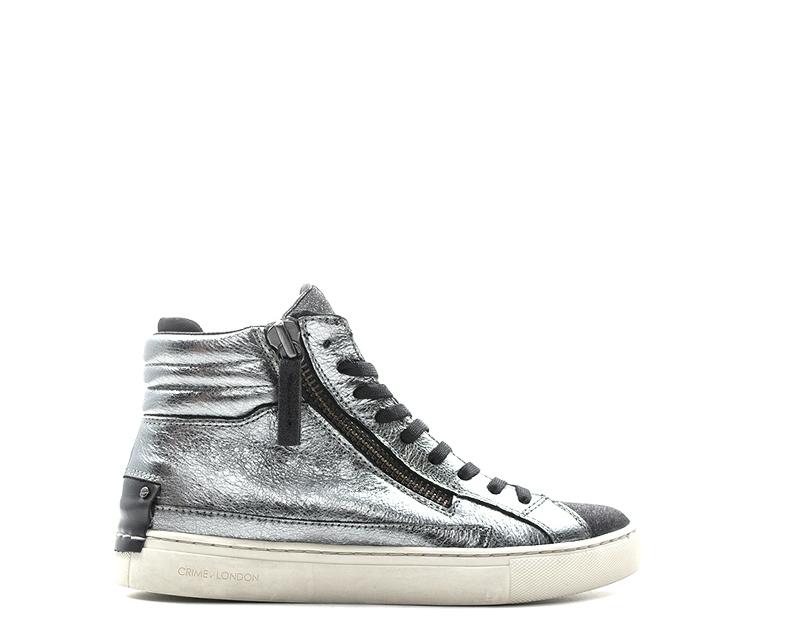 Scarpe CRIME Donna Sneakers Trendy ARGENTO Glitter 1f1b08fb597