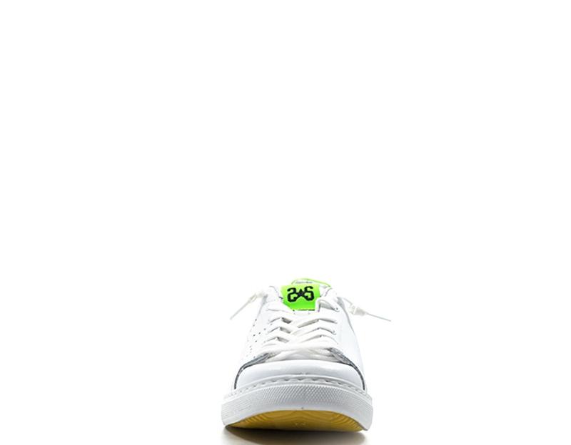Dettagli su Scarpe 2 STAR Uomo Sneakers trendy BIANCO Pelle naturale 2SU1892S
