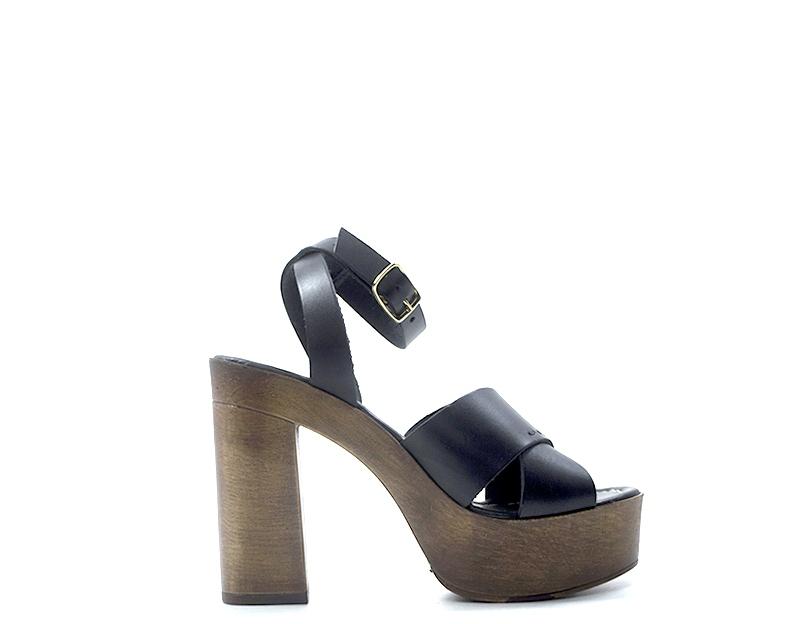 zapatos A.ENNIE mujer Sandali Alti  negro Pelle naturale 3808-NE