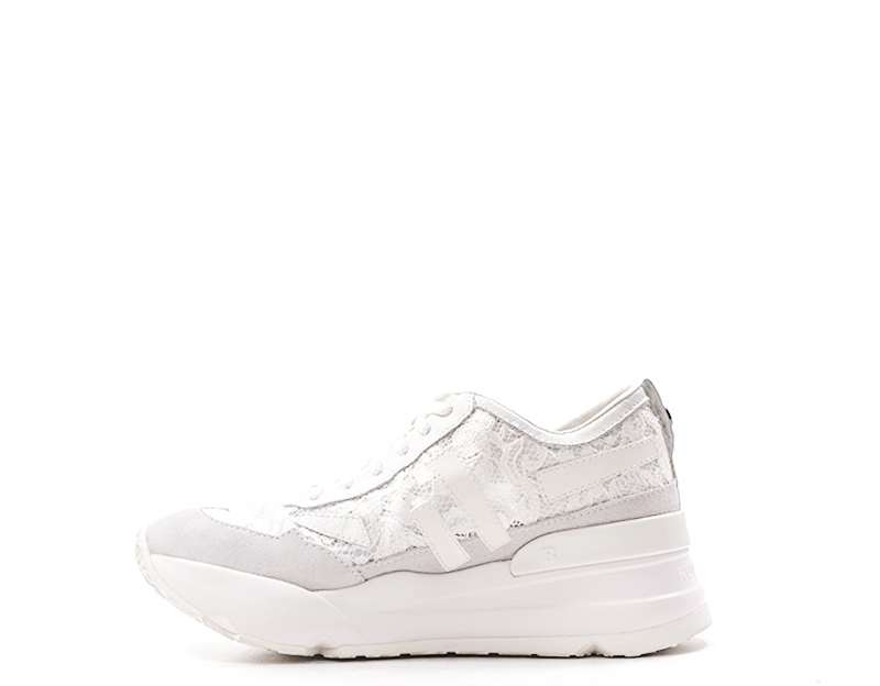 Scarpe RUCOLINE Donna Sneakers Trendy  BIANCO Pelle naturale,Tessuto 4009-83381