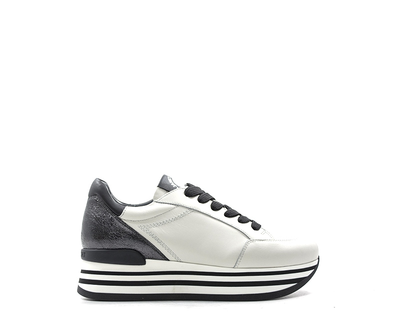 Scarpe JANET SPORT Donna Sneakers Trendy BIANCO Pelle naturale 42700BA 8210016ad13