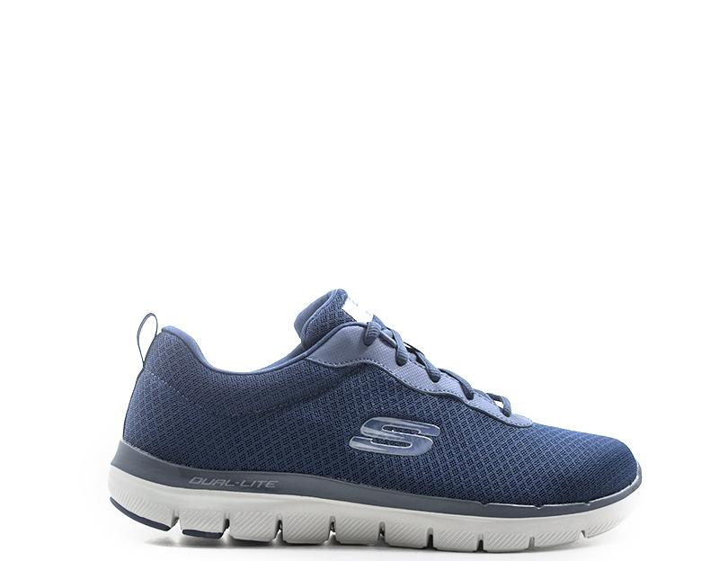 Dettagli su Scarpe SKECHERS SPORT Uomo Sneakers BLU Tessuto 52125-NVY