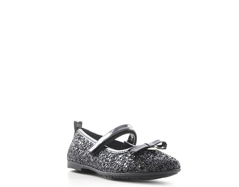 separation shoes 1541d 2c67e Dettagli su Scarpe ASSO Bambini Ballerine NERO Glitter,PU 57506NE-24-30