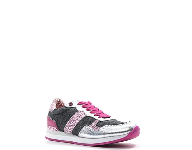 sneakers for cheap 1fa9d 9c8a6 Grigio Pelle Borbonese Scarpe Naturale pu Donna Sneakers ...