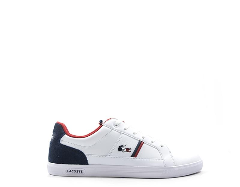 981dbf5852 Dettagli su Scarpe LACOSTE Uomo Sneakers trendy BIANCO Pelle naturale,PU  734SPM0012-042S