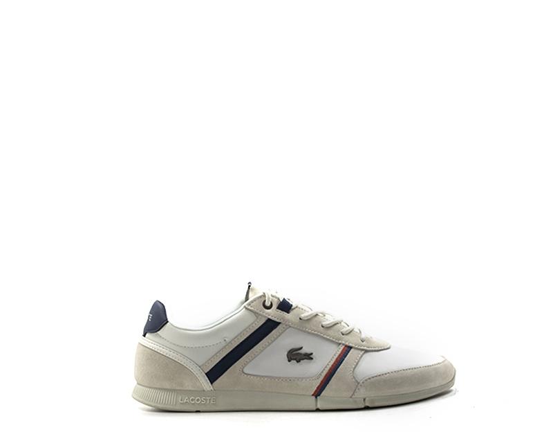 4eb96422c4 Dettagli su Scarpe LACOSTE Uomo Sneakers trendy BIANCO Pelle naturale,PU  735CAM0078-WN1