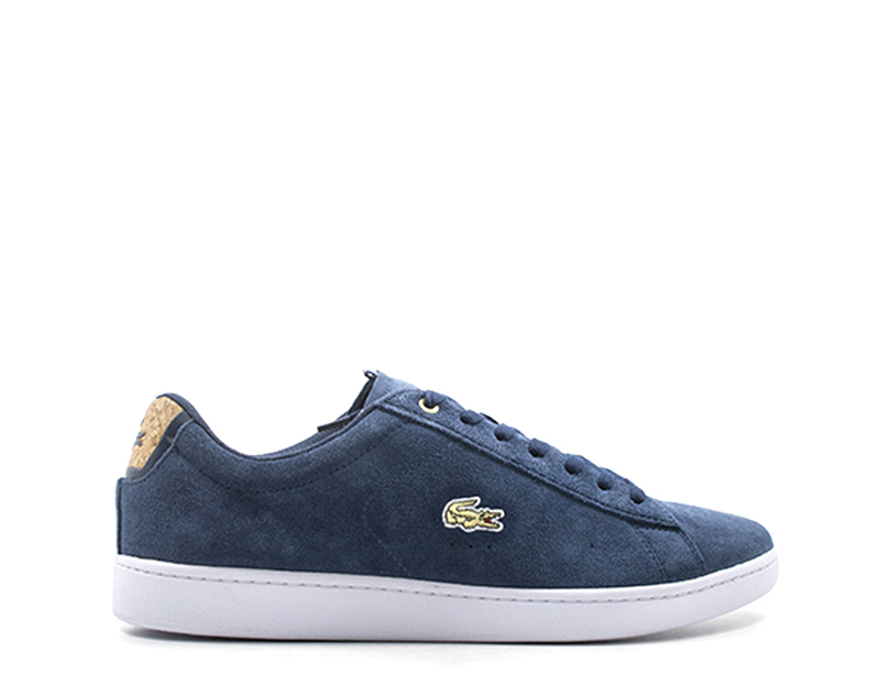 zapatos LACOSTE hombres zapatillas trendy  azul Scamosciato 735SPM0007-092S
