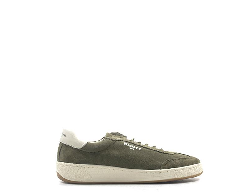 Dettagli su Scarpe BLAUER Donna Sneakers Trendy MILITARE Scamosciato 8FOLYMPIA02 MILS
