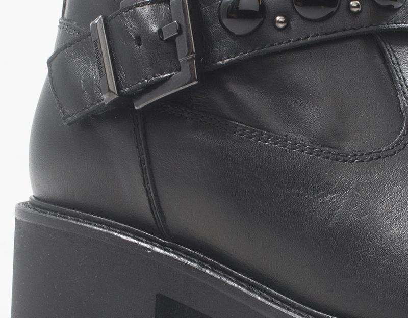 Scarpe NERO GIARDINI Donna Tronchetti Bassi  NERO Pelle naturale 8760D-100
