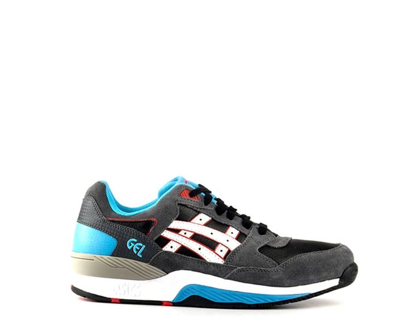 shoes ASICS men Sneakers  grey AZZURRO Gomma,Pelle naturale H420L-9001S