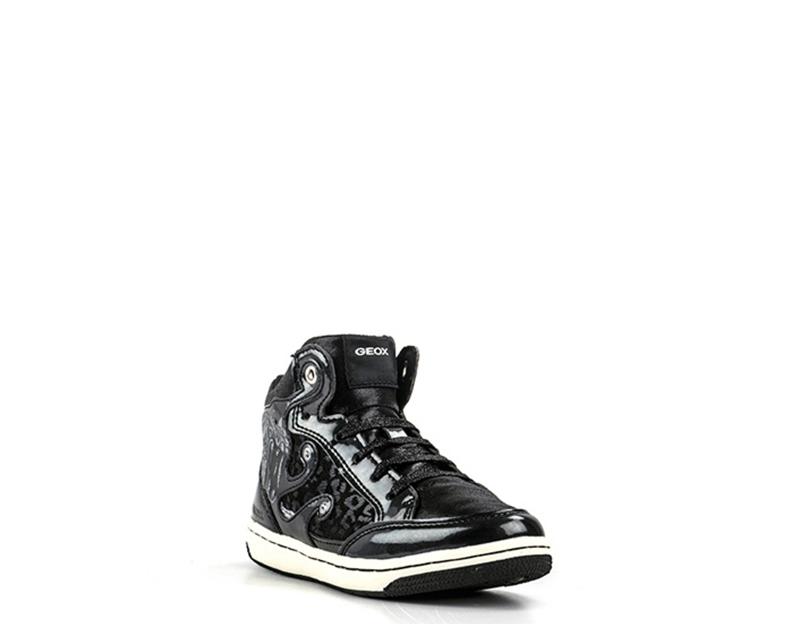 Scarpe GEOX Bambini Sneakers Trendy  NERO Pelle naturale J54L5A-C9999
