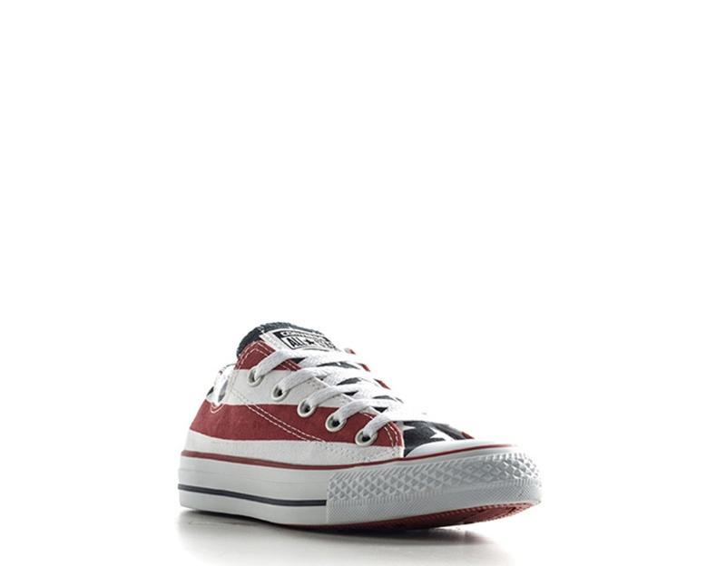 Dettagli su Scarpe CONVERSE Donna Sneakers BIANCOROSSO Tessuto M3494 D