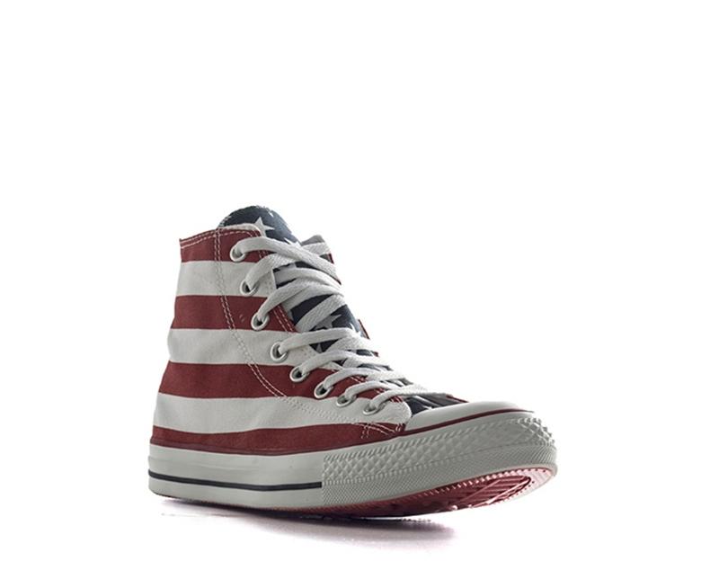 Dettagli su Scarpe CONVERSE Uomo Sneakers BIANCOROSSO Tessuto M8437U