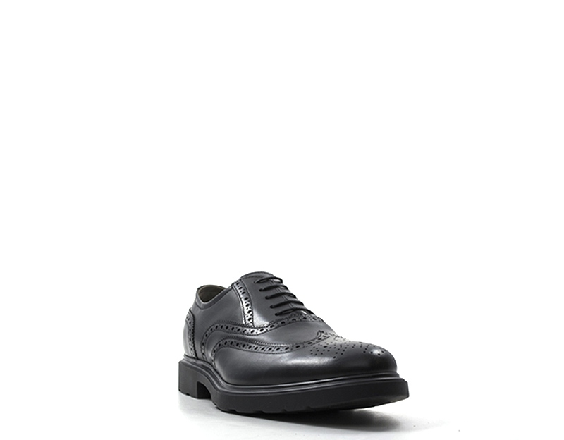 2523aa747a5a Details about Shoes NERO GIARDINI Man Lace-up BLACK Brogue,Leather natural  A800445U-100