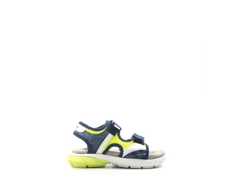 cortesía extremadamente Muy enojado  Zapatos GEOX Niños Sandalias Bajo Azul PU, Tejido B922UC-014PA-C2HF4   eBay