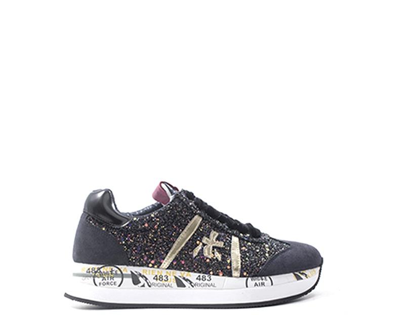 Dettagli su Scarpe PREMIATA Donna Sneakers Trendy GRIGIO Scamosciato,Tessuto CONNY 4264