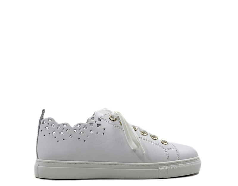 Scarpe TWIN SET-SIMONA BARBIERI Donna Sneakers Trendy BIANCO Pelle naturale  CS8TFY-0001S 2e1afa3e380