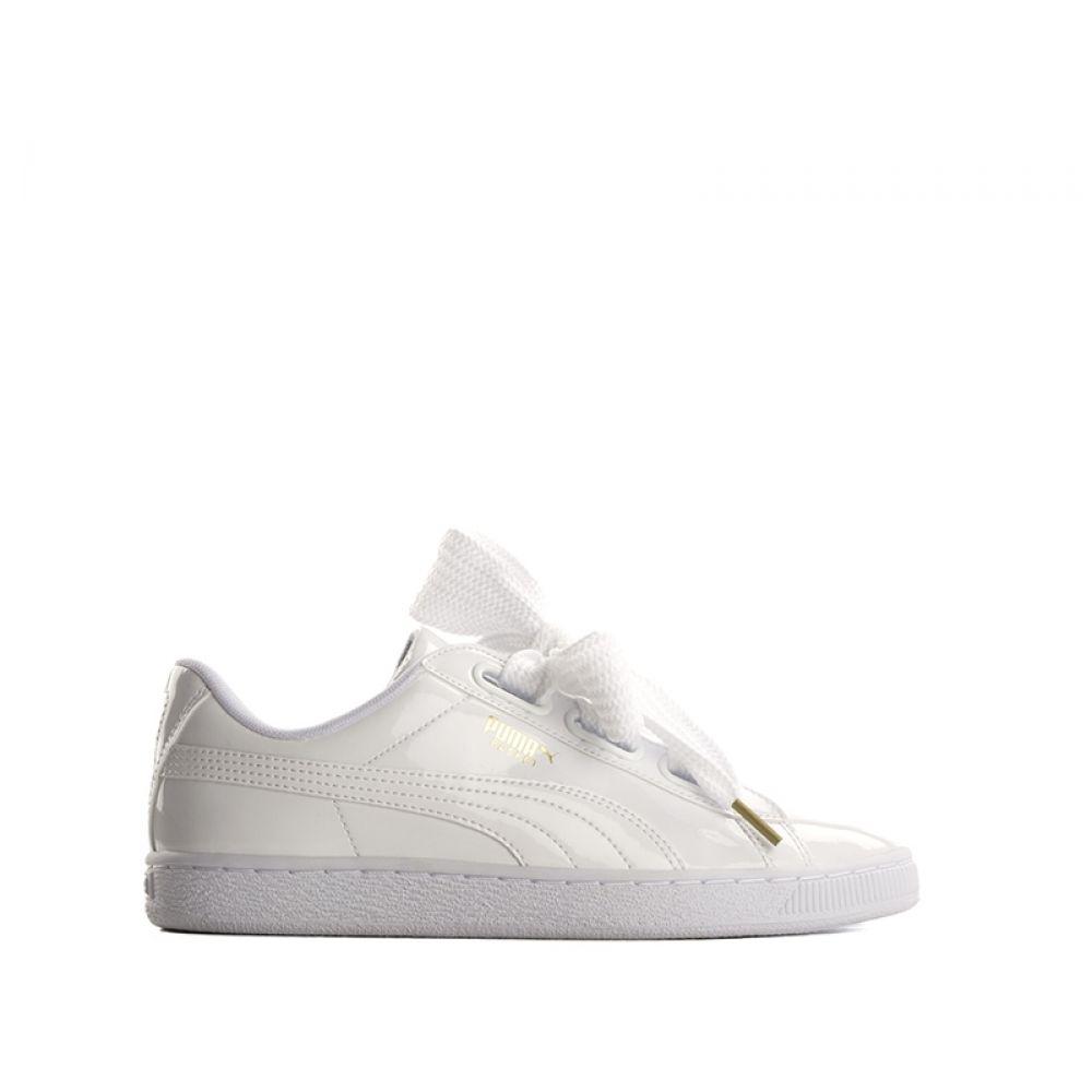PUMA BASKET HEART Sneaker donna bianca in vernice