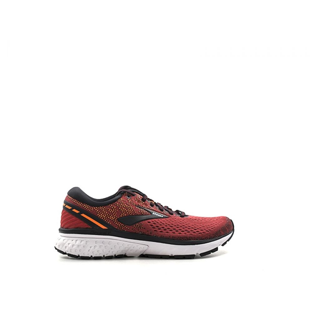 huge discount 68f4f 88e71 BROOKS GHOST 11 Scarpa running uomo rossa nera in tessuto