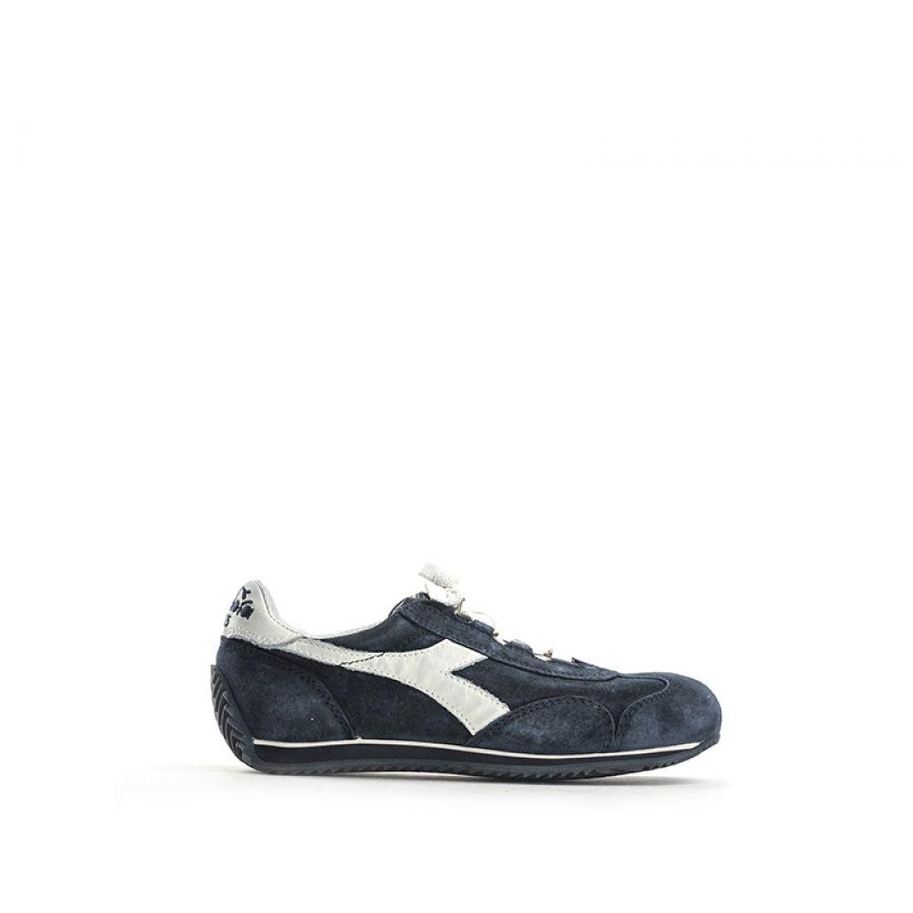 DIADORA HERITAGE Sneaker bambino blu in suede 84e0e88172c