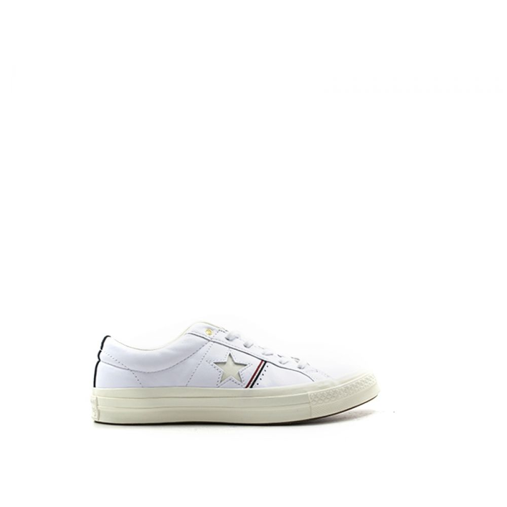 CONVERSE ONE STAR OX Sneaker donna bianca in pelle