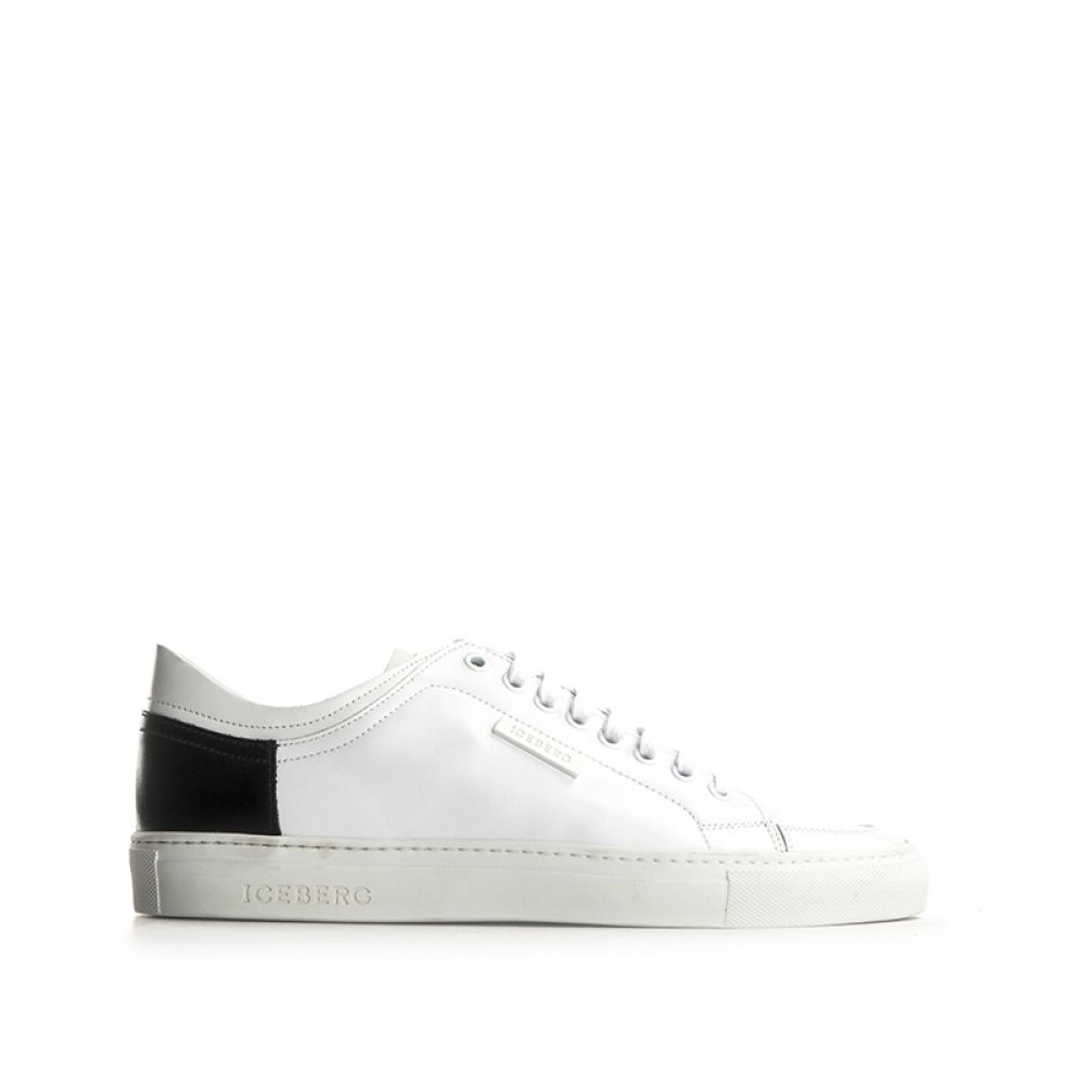 sneakers for cheap 55038 cbbc9 ICEBERG Sneaker uomo bianca in pelle
