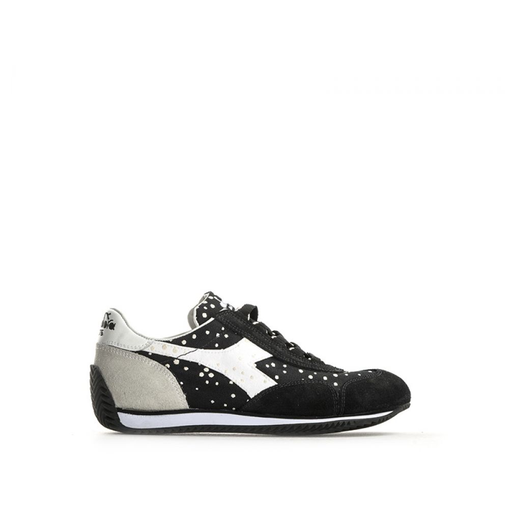 f6aae3087c4ac DIADORA HERITAGE EQUIPE DOTS Sneaker donna nera suede pois