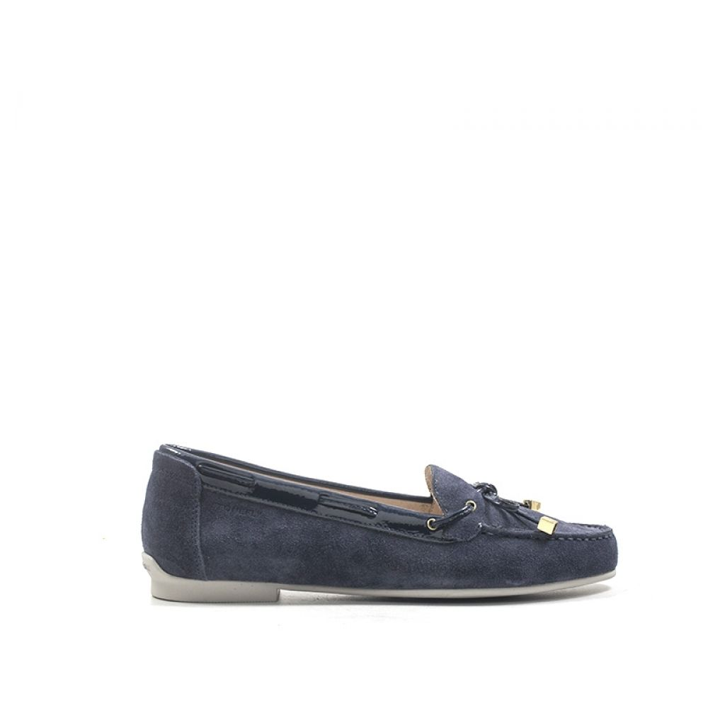 STONEFLY Mocassino donna blu in suede