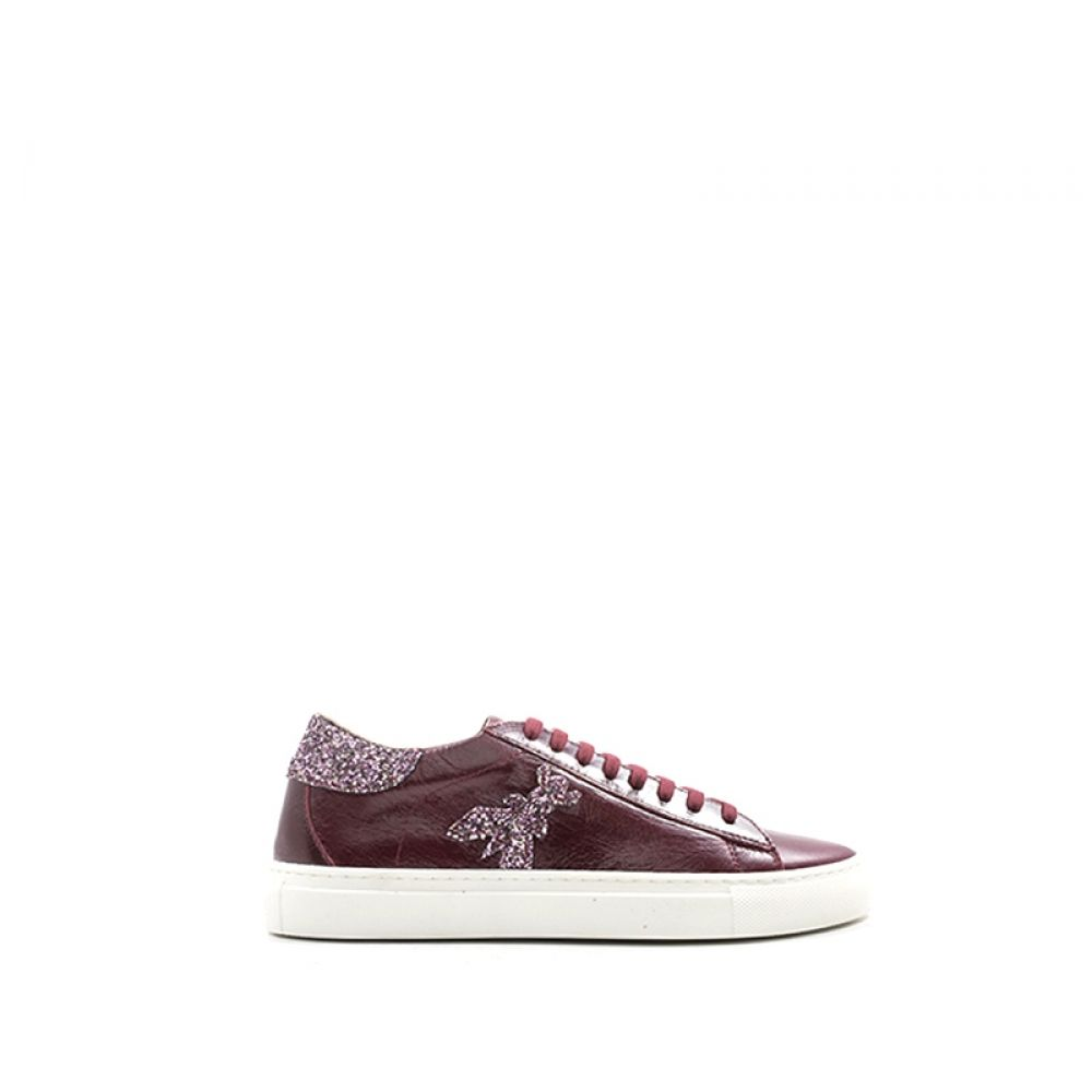 on sale 96acf 81773 PATRIZIA PEPE Sneaker donna bordeaux in pelle