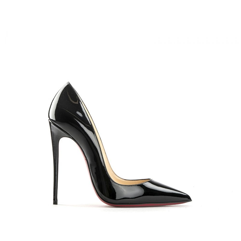 CHRISTIAN LOUBOUTIN Décolleté donna nera in vernice 18c3e198be4
