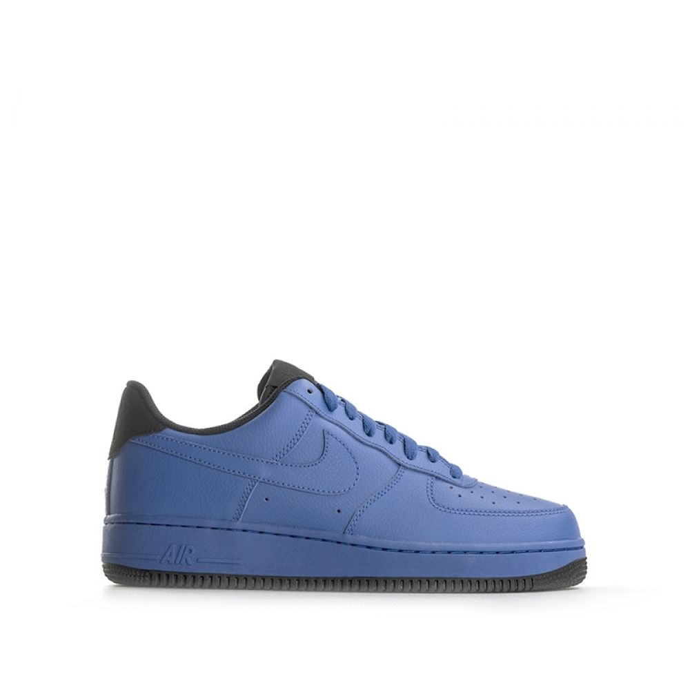 NIKE AIR FORCE 1 Sneaker uomo blu in pelle e2476d94e82