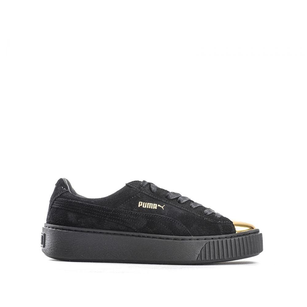 PUMA BASKET PLATFORM Scarpe Da Ginnastica Sneakers Donna Oro Tomaia Laminata