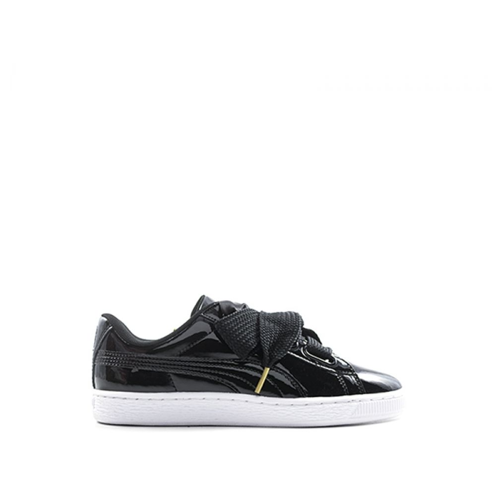 puma basket heart nero