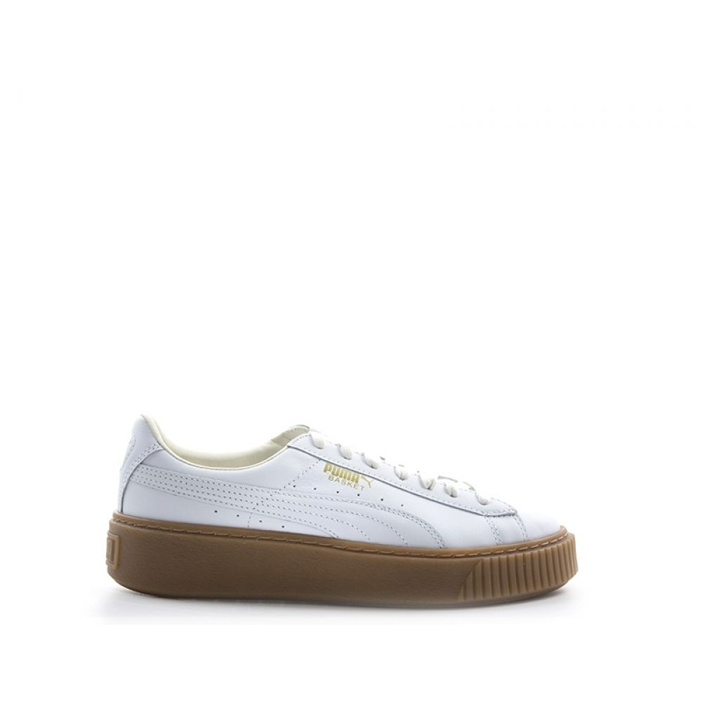 PUMA BASKET PLATFORM CORE Sneaker donna bianca in pelle