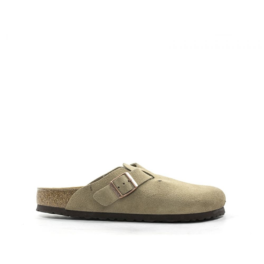 new arrival 38998 50004 BIRKENSTOCK BOSTON BS Ciabatta uomo beige in suede