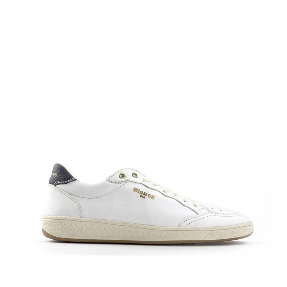 BLAUER Sneaker uomo bianca in pelle
