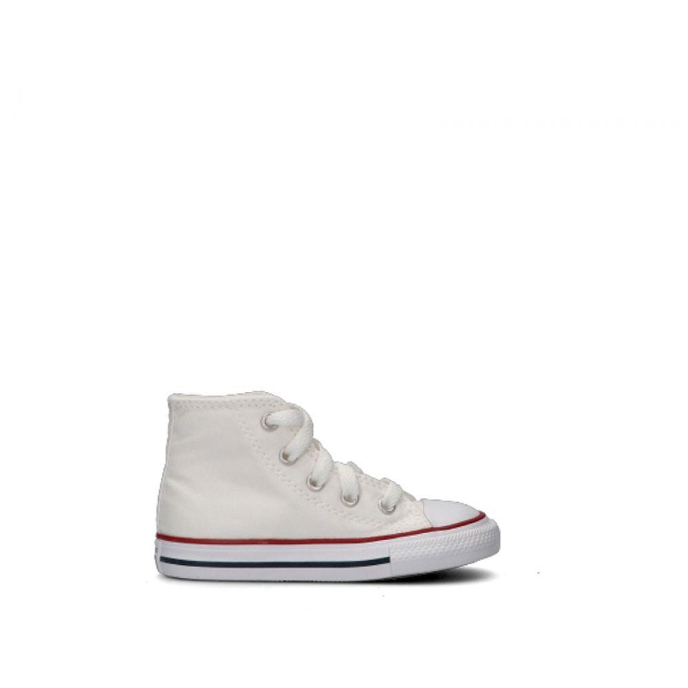 CONVERSE CHUCK TAYLOR Sneaker trendy bimbo bianca in tessuto