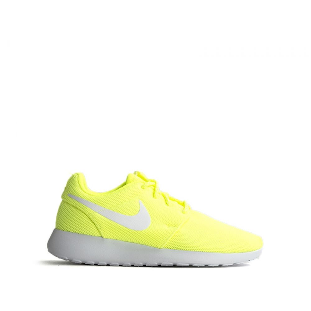 new arrival 96491 331ed NIKE ROSHE ONE Sneaker donna gialla fluo in tessuto
