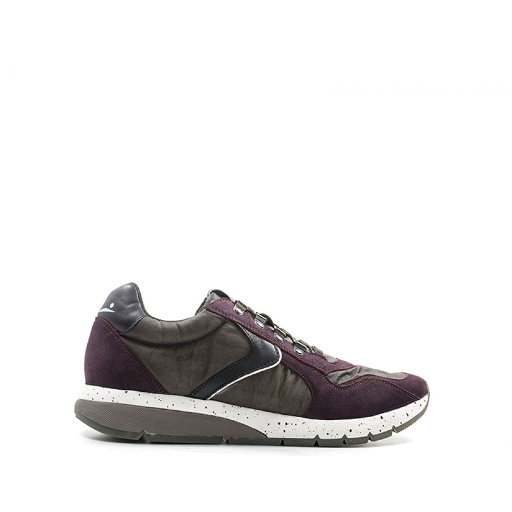 VOILE BLANCHE Sneakers uomo bordeaux marrone in pelle 402bb4a6bfb