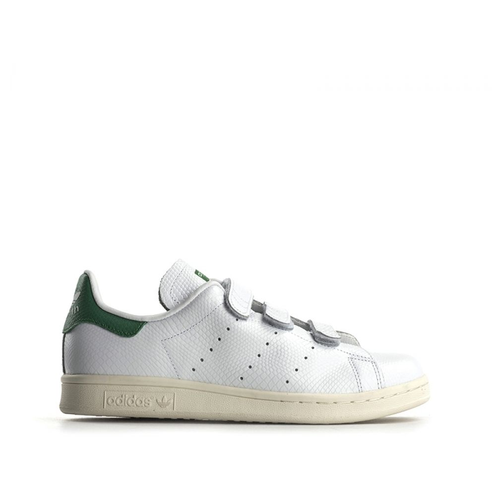 ADIDAS STAN SMITH CF Sneaker uomo bianca in pelle strappi