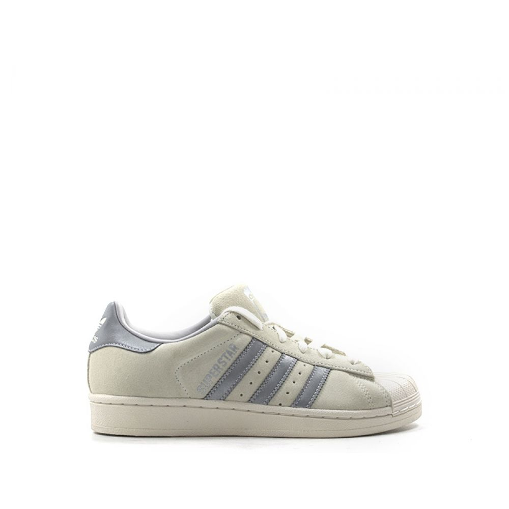 on sale 1e1d1 e5a7a ADIDAS SUPERSTAR Sneaker donna panna grigia in pelle