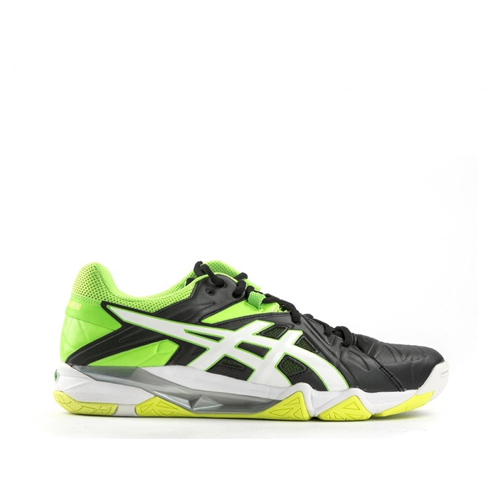 the latest 4c5a5 a43c7 ASICS GEL SENSEI 6 Scarpe volley uomo nera/verde fluo