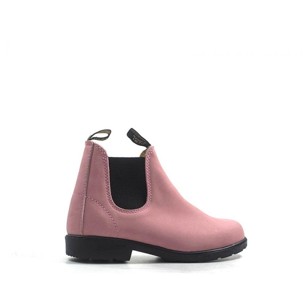 timeless design e2989 0a6c8 BLUNDSTONE Tronchetto bimba rosa in pelle
