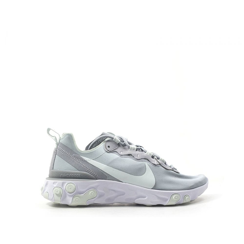 NIKE REACT ELEMENT 55 Sneaker donna grigia in tessuto