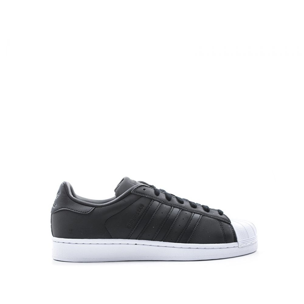 superior quality 23264 1577b ADIDAS SUPERSTAR Sneakers donna nero bianco in pelle
